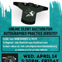 Online auction for Autographed Practice Jerseys - 4/14 thru 4/16
