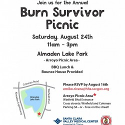 Burn Survivor Picnic Saturday, August 24, 2019