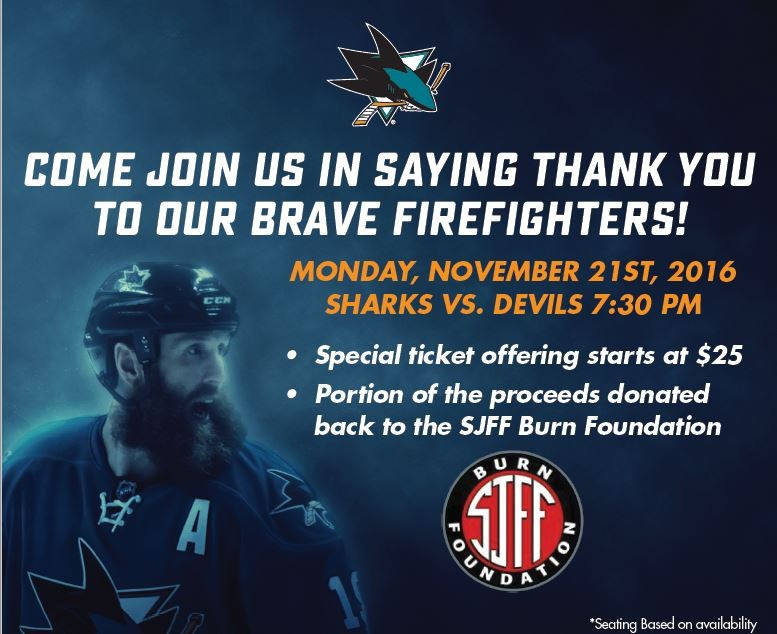 Firefighter Appreciation Night with the San Jose Sharks